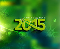 Happy New Year 2015 Background. Happy New Year 2015 snow Background Royalty Free Stock Images