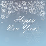 Happy new year background. With snowflakes vector illustration