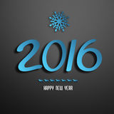 Happy New Year. Happy New 2016 Year Background With Snowflakes, Deers And Title Inscription Stock Images