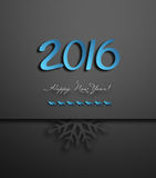 Happy New Year. Happy New 2016 Year Background With Snowflakes, Deers And Title Inscription Stock Image