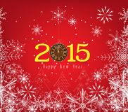 Happy new year background with snowflakes Royalty Free Stock Photos