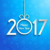 Happy New Year background with snowflakes. Happy New Year background with snowflake design vector illustration