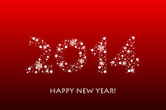 2014 Happy New Year background with snowflakes. Vector 2014 Happy New Year background with snowflakes stock illustration