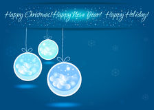 Happy New Year background with snowflakes. Vector EPS10. Happy New Year background with snowflakes stock illustration