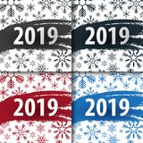 2019 Happy New Year Background with snowflakes for your Seasonal Flyers and Greetings Card or Christmas themed invitations. 2019 Happy New Year Background with royalty free illustration