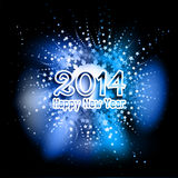 Happy New Year background. With a star design Stock Photography