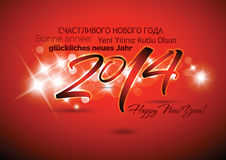 Happy New Year Background. With stars Royalty Free Stock Photos