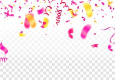 2019 Happy New Year Background Stars colorful concept isolated o. N white background. Christmas decoration of colored confetti vector illustration