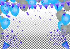 2019 Happy New Year Background Stars colorful concept isolated o. N white background. Christmas decoration of colored confetti royalty free illustration