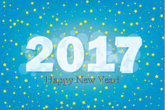 2017 Happy New Year background with stars vector.  Royalty Free Illustration
