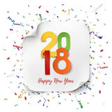 Happy New Year 2018 background template. Royalty Free Stock Images