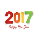 Happy New Year 2017 background template. Happy New Year 2017. Colorful paper typeface isolated on white. Happy New year 2017 background. Happy New Year 2017 Stock Photo