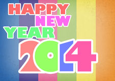Happy new year 2014 background. Happy new year 2014 text in colorful background Stock Images