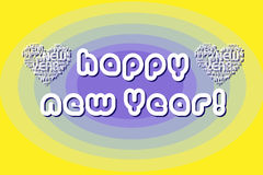 Happy new year background with text heart Stock Photography