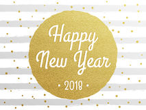 2018 Happy New Year Background texture with glitter fireworks. Vector gold glittering text and numbers. 2018 Happy New Year greeting card background texture Stock Image