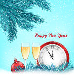 Happy New Year Background with Traditional Objects Royalty Free Stock Photos