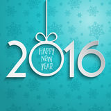Happy New Year background. With typography design Royalty Free Stock Images