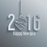 Happy New Year background. With a typography design Royalty Free Stock Images