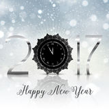 Happy New Year background. With typography design Royalty Free Stock Photography