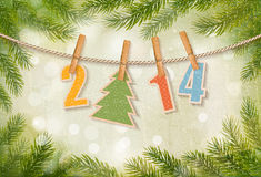 2014 Happy New Year background. Vector Royalty Free Illustration