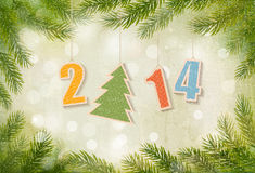 2014 Happy New Year background. Vector Royalty Free Stock Image