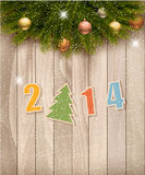 2014 Happy New Year background. Vector Stock Images