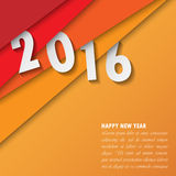 2016 Happy New Year background.vector. Stock Image