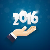 2016 Happy New Year background.vector. Stock Images