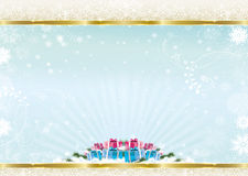 HAPPY NEW YEAR BACKGROUND. Vector gold blue Royalty Free Stock Images