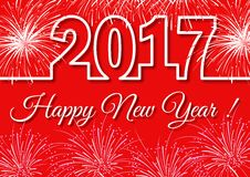 Happy New Year 2017 background. Vector greeting illustration Stock Photography