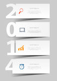 2014 Happy new year background vector illustration Stock Images