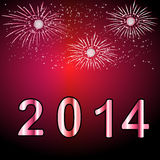 Happy new year 2014. New year 2014 background- vector illustration Stock Photo