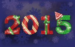 Happy New 2015 Year background. Vector illustration Stock Images