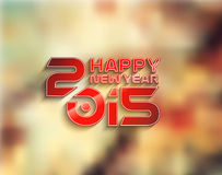 Happy New Year 2015 Background Stock Photos