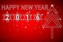 Happy new year 2016 background. Vector Illustration vector illustration