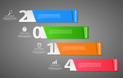 2014 Happy new year background vector illustration Stock Photos