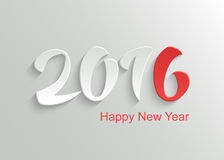 Happy New Year 2016 Background. Happy New Year 2016 Vector Template Background with Hand Lettering 3D Text Royalty Free Illustration