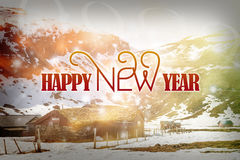 Happy New Year 2017 background. Happy New Year 2017 background with winter landscape Vector Illustration