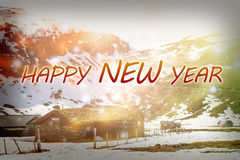 Happy New Year 2017 background. Happy New Year 2017 background with winter landscape Royalty Free Illustration