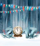 Happy New Year 2017 background with a wooden sign Royalty Free Stock Photography