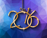 2016 Happy New Year Background for your Christmas Royalty Free Stock Photography