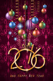 2016 Happy New Year Background for your Christmas dinners Stock Photography