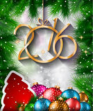 2016 Happy New Year Background for your Christmas flyers Royalty Free Stock Images