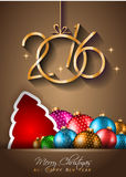 2016 Happy New Year Background for your Christmas flyers Stock Images