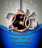 2016 Happy New Year Background for your Christmas Flyers Royalty Free Stock Photography
