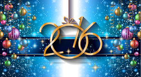 2016 Happy New Year Background for your Christmas Flyers Royalty Free Stock Photo