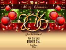 2016 Happy New Year Background for your Christmas Flyers Stock Photo