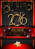 2016 Happy New Year Background for your Christmas invitations. 2016 Happy New Year Background for your Christmas dinner invitations, festive posters, restaurant Royalty Free Stock Photos