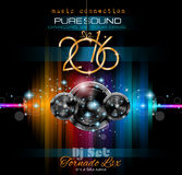 2016 Happy New Year Background for your Club Parties Stock Photography