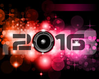 2016 Happy New Year Background for your Club Parties Stock Image